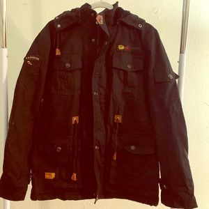 Men's Black Heavy Duty Full Zip Jacket XL NIB
